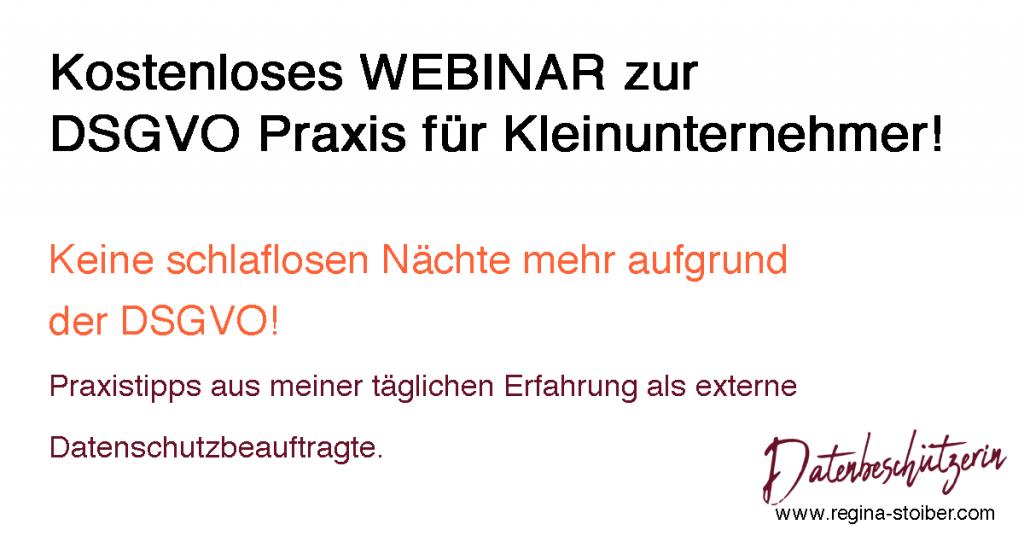 Webinar Praxistipps DSGVO