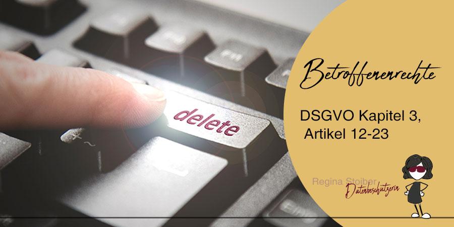 Betroffenenrechte DSGVO