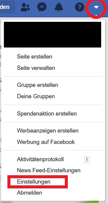 Facebook Datenschutz: Anleitung zu Facebook Datenschutz Einstellungen Schritt 1