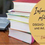 Was ändert sich bei der Informationspflicht mit der DSGVO? Aufbau und Muster nach Art. 13 und Art. 14