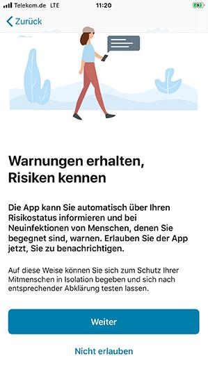 Risikoerkennung in der Corona Warn App