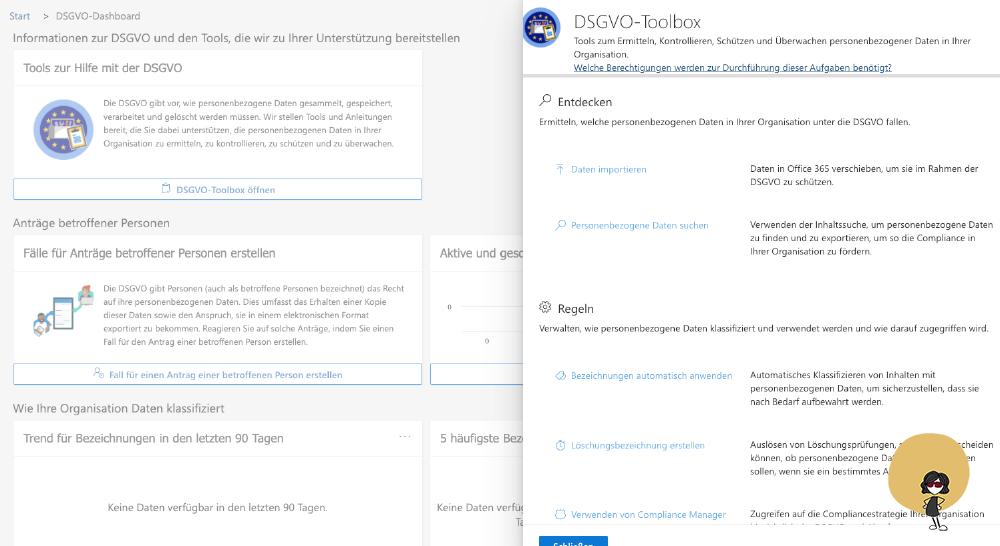Microsoft 365 DSGVO Dashboard