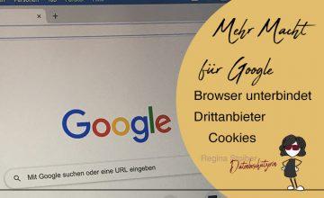 Google Chrome unterbindet Drittanbieter Cookies